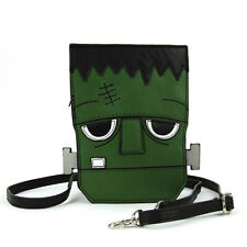 Frankenstein Head Crossbody Purse Vinyl Bag Goth Punk Horror Monster Halloween