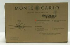 """Monte Carlo Ceiling Fan 44"""" 5 Blade Outdoor Indoor Bronze Finish"""