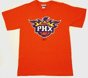 2006 Phoenix Suns t-shirt Reebok Medium Orange Nash Stoudemire Barbosa Paul PHX