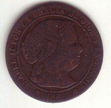 Devise 1/2 Centime D'Escudo Isabelle II - Année 1868 Om - Séville