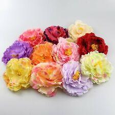 "4"" Fake flower heads in bulk for Crafts Artificial DIY Silk Peony Heads Decor"