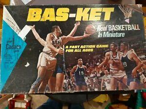 Vintage Bas-ket Real Basketball In Miniature Cadaco No. 165 1973 No Net/Balls