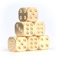 1 PC Manual Polishing Solid Brass Dice KTV Bar Supplies Copper Alloy Dice