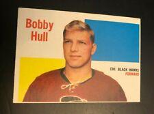 1960-61 Topps Hockey #58 Bobby Hull Chicago Blackhawks EX+