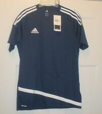 ADIDAS SIZE M NWT MEN'S SHORT SLEEVE ATHLETIC JERSEY BLUE CLIMACOOL MSRP $35