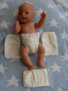 4 Disposable Dolls Nappies 15-20ins Baby Born - Reborn - Berenguer - Zapf