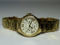 LADIES MICHAEL KORS MINI CAMILLE WHITE DIAL GOLD TONE CRYSTAL WATCH MK5759