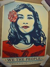 Shepard Fairey We the People Defend Dignity Obey Giant Print Signed Numbered