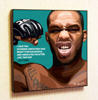 Jon Jones UFC Quote Wall Pop Art Poster Frame Canvas Print Painting Gifts
