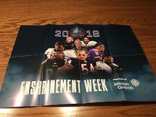 2018 Pro Football Hall Of Fame Enshrinement Poster Randy Moss Minnesota Vikings