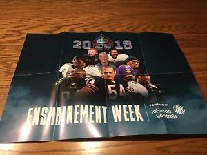2018 Pro Football Hall Of Fame Enshrinement Poster Robert Brazile Houston Oilers