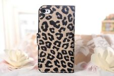 Leopard Print Pattern Leather Skin Case Cover Protector For Apple iPhone 4S 4 4G