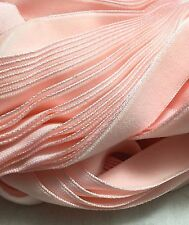 Vintage French Rayon VELVET Ribbon Taffeta Back - BABY PINK by the yard 5/8 inch