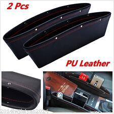 2x Catch Catcher Box Caddy PU Leather Car Seat Slit Pocket Storage Organizer New