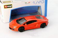 Lamborghini Aventador LP700-4 Naranja 1:43 Bburago