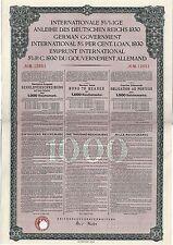 Internationale Anleihe Deutschen Reichs Berlin 1930 Deutsches Reich h Wertpapier