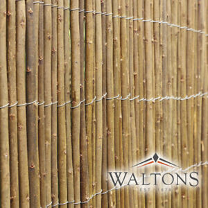 Waltons Garden Willow Cane Screening Screen Roll 4m Long Panel Outdoor Fence NEW