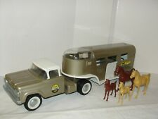 Vintage Nylint Ford Horse Truck with Original Horses - Original Condition