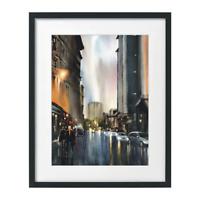 Renfrew St Glasgow Watercolor Painting Print Landscape Cityscape Sarfraz Musawir