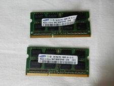 4GB (2x 2GB) Samsung DDR3 2Rx8 PC3-10600S SO-DIMM für Laptop | M471B5673FH0-CH9