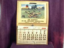 1949 CALENDAR POMEROY CO-OP CREAMERY ASSOCIATION PHONE 13 IOWA SYSTEMENTRY
