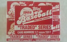 1989 TOPPS LOT OF 5 BASEBALL TRADED ROOKIE FACTORY SET GRIFFEY RC RANDY JOHNSON