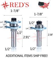 "Tideway Carbide Industrial LC01150804 1//2/"" Strait 1//4/"" shank router bit"