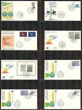 UN-Geneva # 89-97, 1980 Annual Set, Official Geneva Cachet FDC No Address