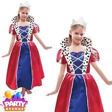 La reine robe & diadème royal historical filles costume historique enfants 6-8yrs