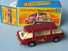 Lesney Matchbox Superfast Freeman City Commuter Maroon Boxed