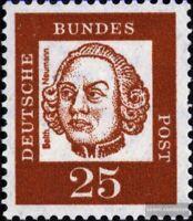 BRD 353y R mit Zählnummer postfrisch 1961 Bedeutende Deutsche
