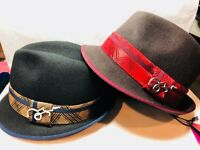 New with Tag Men's Carlos Santana SAN 270 SOFT 100% WOOL FEDORA W/binding M.L.XL