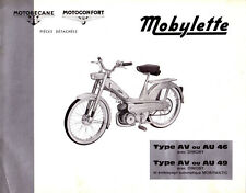 Mobylette Motobecane Moped AV AU46-49 Spare Parts Manual in French on CD