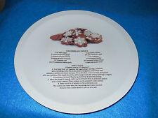 """Ceramic Gingerbread Cookie Recipe Plate-- 10 3/4""""  NEW"""