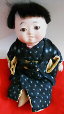 Vintage Japanese Ichimatsu Gofun boy  doll NEED TLC 7 inches