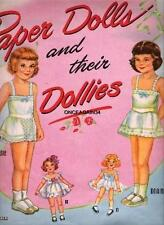 Vintage Uncut 1951 Paper Dolls & Their Dollies Paper Dolls~#1 Reproduction~Rare!