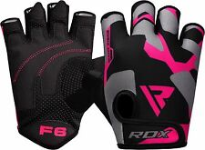 RDX Ladies Weight Lifting Gym Gloves Body Building Women Training Fitness Pink B