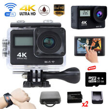 4K Wifi Sports Camera Helmet DV FHD Action Cam Remote W/Travel Bag+2Battery+32GB