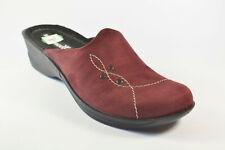 Romika Damenschuhe Pantolette Bordeauxrot Gr. 41 Obermaterial Textil (R198/S)