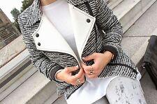 Zara L/40 42 wool boucle Biker style blazer Jacket lana motocicleta chaqueta chaqueta