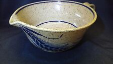 CLASSIC BLUE Stoneware Pottery 6 Cup MEASURING CUP Rare SIGNED WHEAT DESIGN
