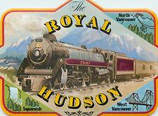 ROYAL HUDSON RAILROAD ~British Columbia Canada~ Beautiful Luggage Label / Decal