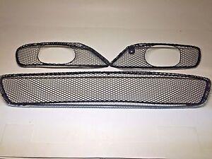 Front Bumper Lower AMG Mesh Grille 3-Piece SET For Mercedes CLK320 CLK500 CLK55