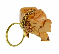 A Hand Carved Wooden Elephant Key Ring,keychain,wood Key Holder Keychain