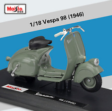Maisto 1:18 Vespa 98 1946 Diecast Motorcycle Scooter Model Toy New