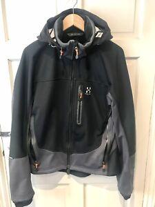 Haglofs Softshell Windbreaker Jacket Fleece Mens Medium 👀🔥