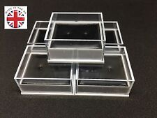 100 QUALITY EARRING DISPLAY BOXES & PADS CLEAR LID FREE P&P WHOLESALE JEWELLERY