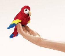 NEW PLUSH SOFT TOY Folkmanis 2723 Mini Scarlet Macaw Finger Puppet 18cm