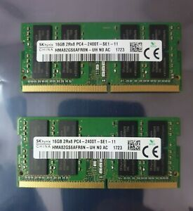 SK Hynix PC4-19200 PC4 2400T 32GB 2X16GB DDR4 2RX8 2400MHz 260pin Laptop Memory