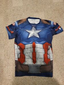Under Armour® Alter Ego Captain America Compression Shirt Men's 2XL